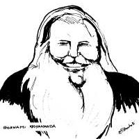 A drawing of Goswami Kriyananda of the Kriya Yoga Lineage.