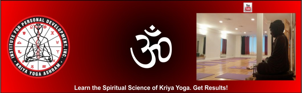 A banner for Kriya Yoga Ashram