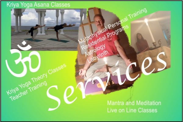 A poster for Kriya Yoga Services