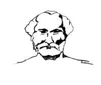 A drawing of Lahiri Mahasaya of the Kriya Yoga Lineage.