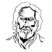 A drawing of Sri Yukteswarji of the Kriya Yoga Lineage.