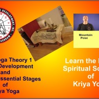 a poster for Kriya Yoga Theory 1 online live classes and videos