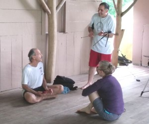 a picture from a session at the Kriya Yoga Spiritual Advance Retreat 1015