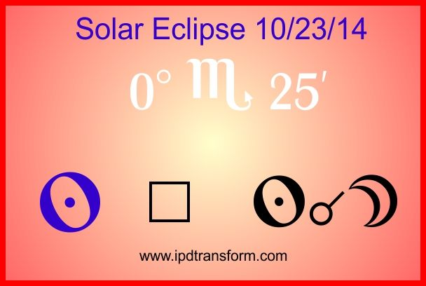 a poster for Transit 2 sun squaring the eclipse of 10/23/14.