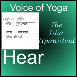 a poster for the radio show on the Isha Upanishad.