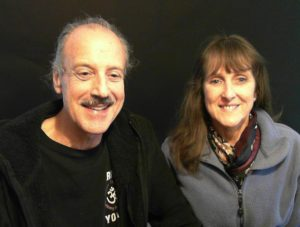 a picture of Lisa and Kenny doing the radio show on Divine Mercy 2.