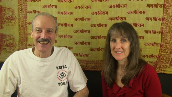 a picture of Lisa and Kenny doing the radio show Discovery 2017 - Inner Space Travel with Kriya Yoga.