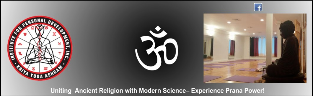 A banner for Kriya Yoga Ashram