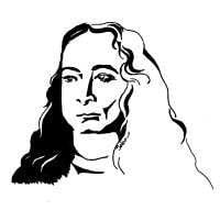 A drawing of Paramahansa Yogananda of the Kriya Yoga Lineage.