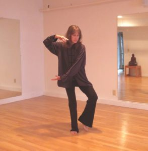 a picture of Lisa teaching the Services of Tai Chi