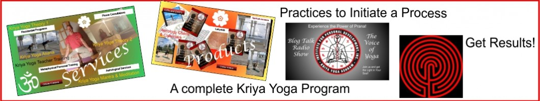 A poster to represent the Kriya Yoga Ashram