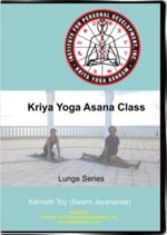 A picture of a cover for a Kriya Yoga Asana DVD