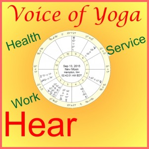 A picture of a poster made for Voice of Yoga show on the Eclipse.