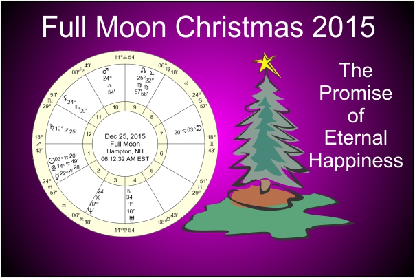 A picture with the chart of the Full Moon for Christmas 2015