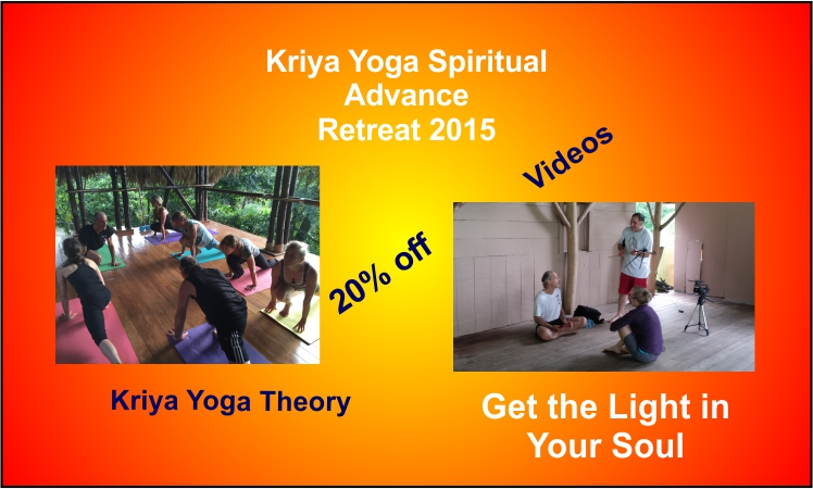 a poster for the Kriya Yoga Spiritual Advance retreat in CR 2015.