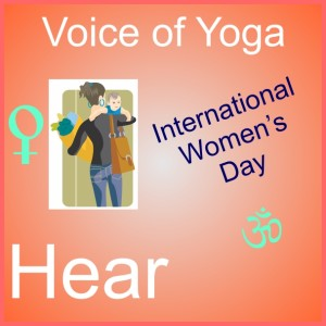a poster to represent the radio show on International Woman's Day and Union with the Divine.
