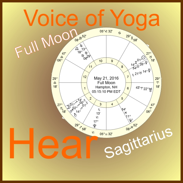a poster for the radio show on the Sagittarius Moon becoming full.