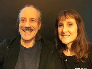 a picture of Lisa and Kenny doing the Modeling Air Quality and Union with the Divine radio show.