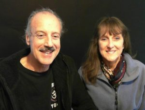 a picture of Lisa and Kenny doing the radio talk show on National Prayer Day.