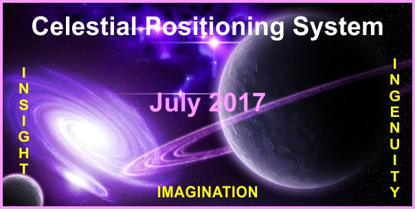 a poster for the July Celestial Positioning System.