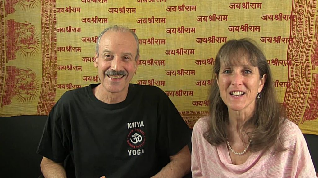 a picture of Lisa and Kenny doing the radio show on Realizing Your True Spiritual Nature.