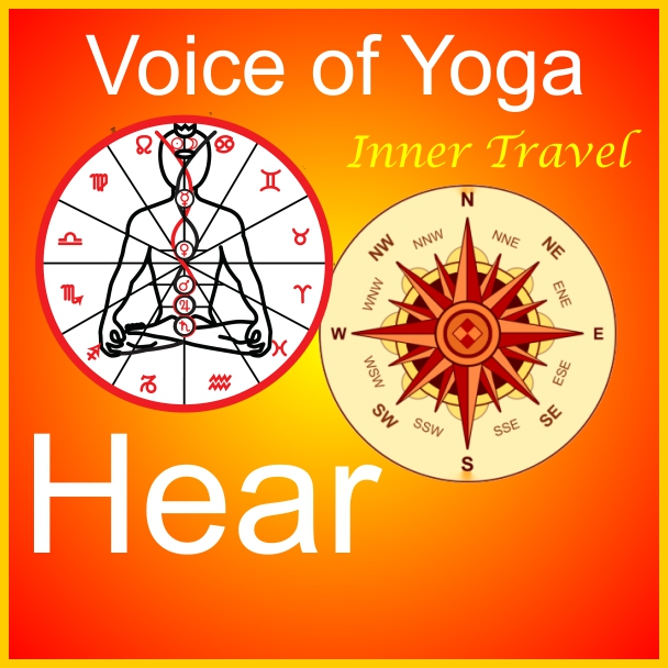 a poster for the radio talk show Discovery - Inner Space Travel with Kriya Yoga.