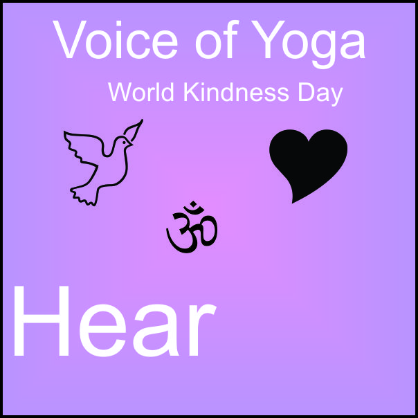 a poster for the radio talk show on World Kindness Day and Kriya Yoga.