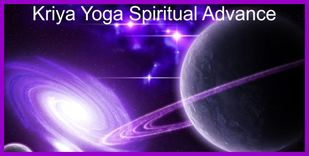 a poster for the Kriya Yoga Spiritual Advance.