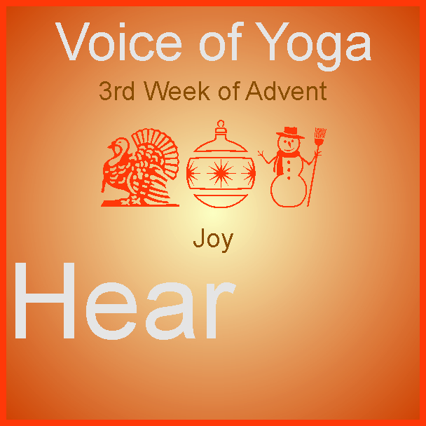a poster for the radio talk show on Advent Joy.