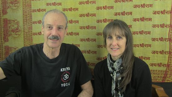 a picture of Lisa and Kenny doing the radio show Spirit and Spiritual Understanding in Kriya Yoga