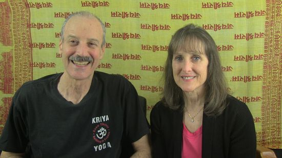 a picture of Lisa and Kenny doing the radio talk show on International Happiness 2018 and Spring Equinox.