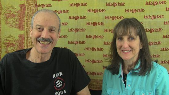 a picture of Lisa and Kenny doing the radio show on Divine Mercy Sunday with Forgiveness.