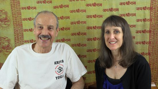 a picture of Lisa and Kenny doing the radio talks show on Was Jesus Really a Kriya Yogi?