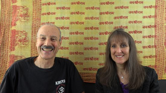 A picture of Lisa and Kenny doing the radio talk show Beginning to Trust the Divine Principle.