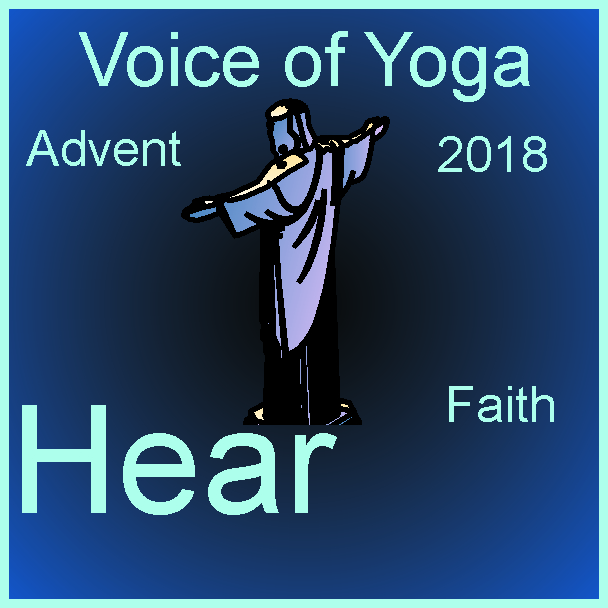 a poster for the radio talk show Advent 2018 and the week of Faith.
