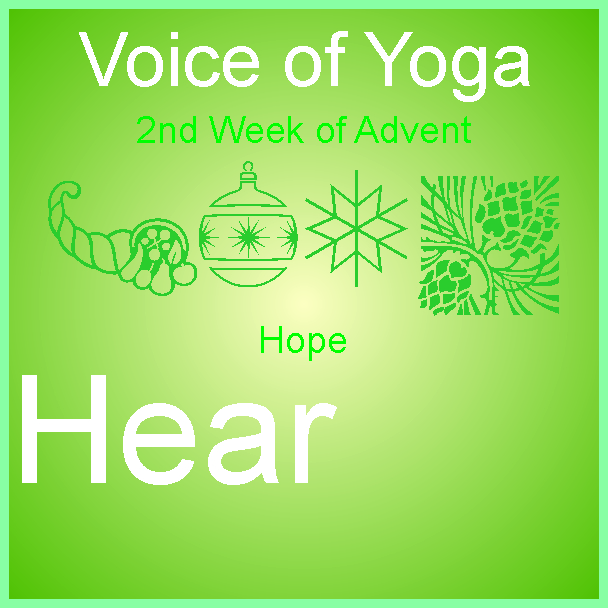 A poster for the radio talk show discussing Advent 2018 and the Week of Hope.