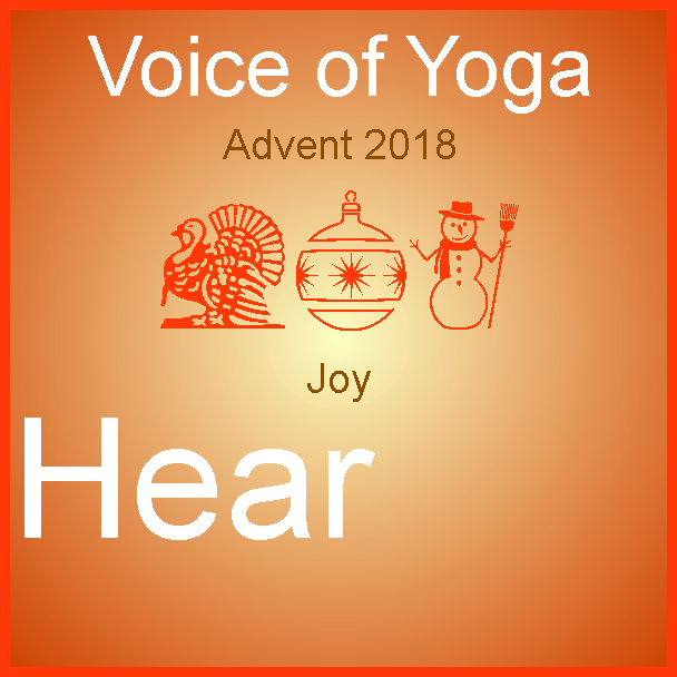 A poster for the radio talk show Advent 2018 the Week of Joy.