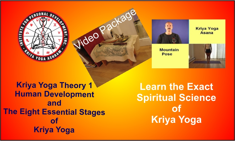A poster for the Kriya Yoga Theory 1 Video Package.