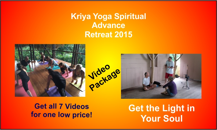 a poster for the Kriya Yoga Spiritual Advance 2015 video package deal