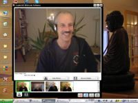 a picture of Swami doing an online session in Personal Training