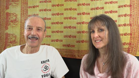 a picture of Lisa and Kenny doing the radio talk show Consciousness in Constant Relation with the Divine.