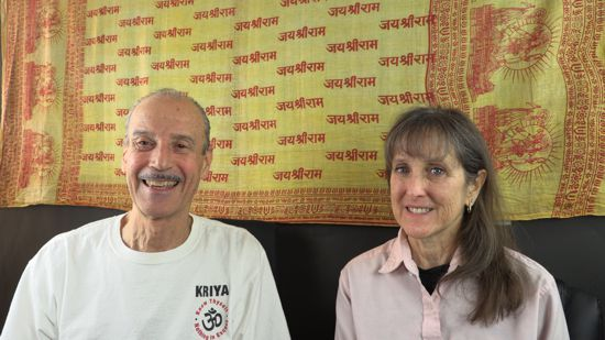 A picture of Lisa and Kenny doing the radio talk show titled Forsake Mortal Thinking for Divine Knowing.