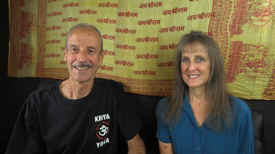a picture of Lisa and Kenny doing the radio talk show on Graceful Aging.