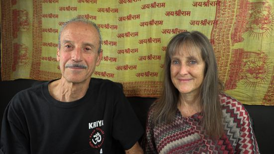 A picture of Lisa and Kenny doing the radio talk show titled Truth With or Without Thought.