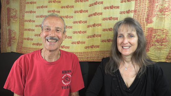 a picture of Lisa and Kenny doing the talk show on Sense Free titled Liberation from Sense Level Living.